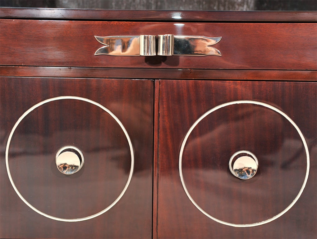 Art Deco Grosfeld House Mahogany Night Stands For Sale