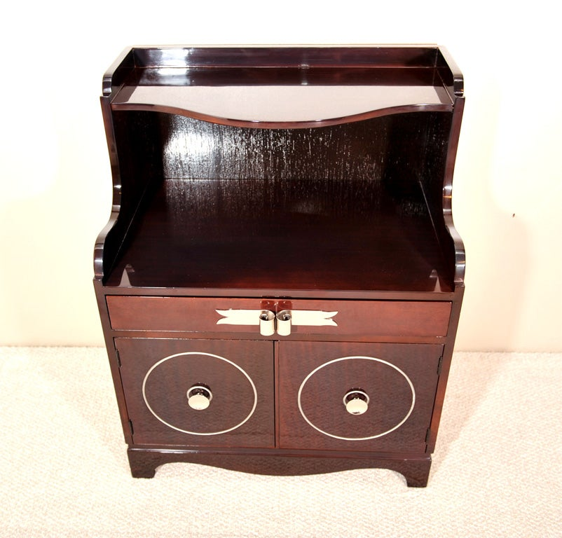 American Grosfeld House Mahogany Night Stands For Sale