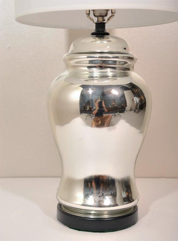 Pair Of Ginger Jar Mercury Glass Lamps At 1stdibs