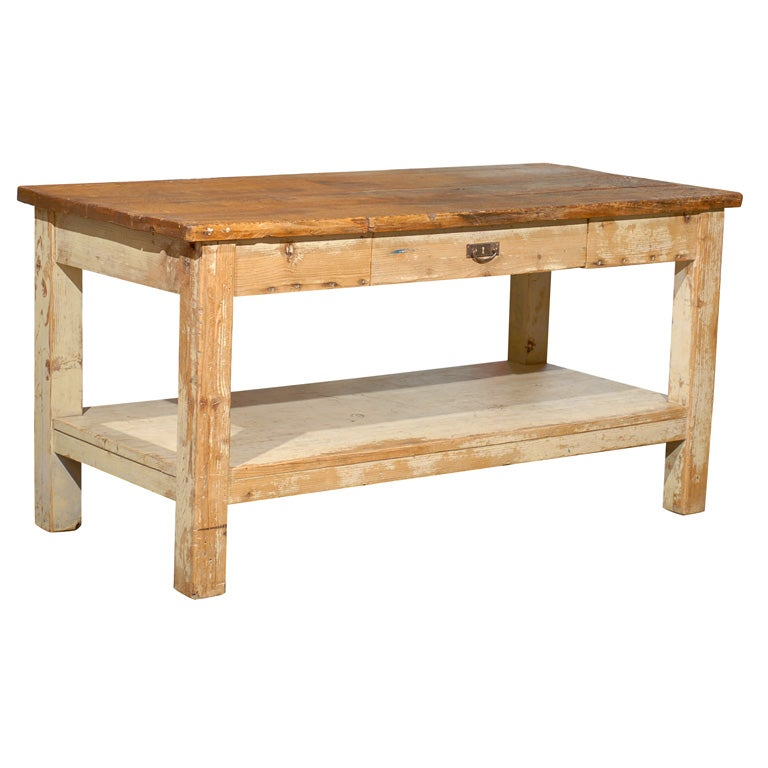 wood butcher block work table at 1stdibs