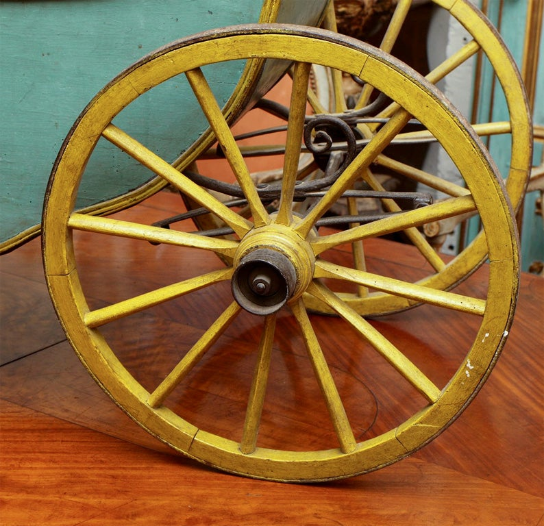 Metal 18th C CHILDS CABRIOLET For Sale