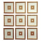 A Collection of Nine Framed 19th Century Intaglio Seals