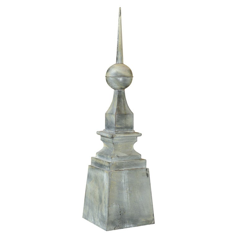20th Century Monumental French Galvanized Finial At 1stdibs