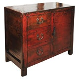 Red Lacquer Chest from Shanxi province