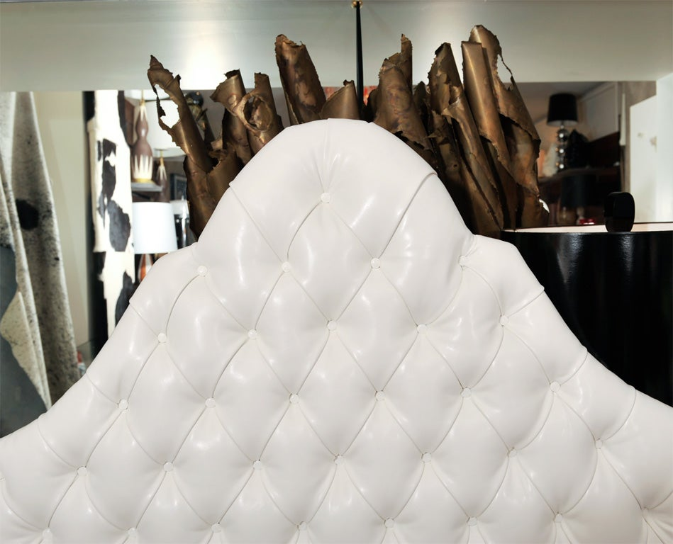 American Head Board, Ultra Leather For Sale