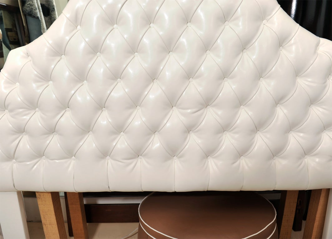 Faux Leather Head Board, Ultra Leather For Sale