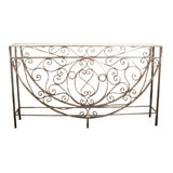 "Iron Console 63"" long 12"" deep and 36"" high"