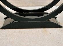 "Art Deco Side Table with ""U"" Shaped Pedestal Base image 3"