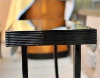 "Art Deco Side Table with ""U"" Shaped Pedestal Base image 7"