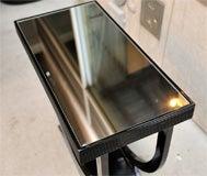 "Art Deco Side Table with ""U"" Shaped Pedestal Base image 9"