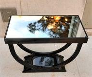 "Art Deco Side Table with ""U"" Shaped Pedestal Base image 10"