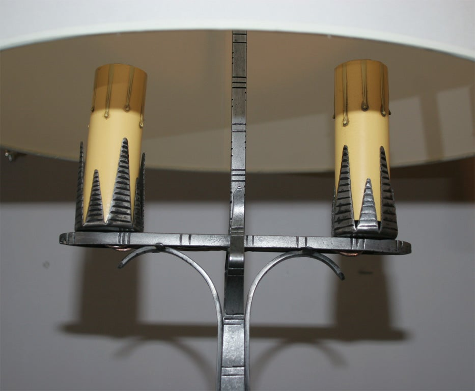 20th Century Pair of American Art Deco Table Lamps by Jules Bouy For Sale