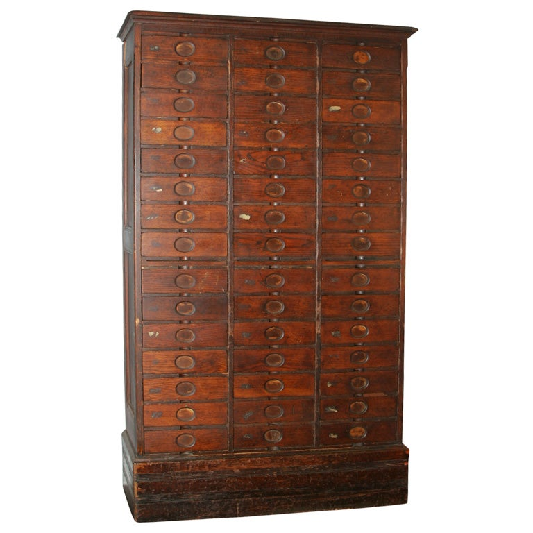 Antique Oak Filing Cabinet At 1stdibs