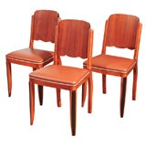 Six Art Deco Dining or Side Chairs
