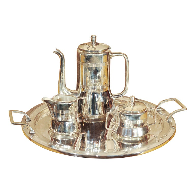 Silver Plate Coffee Set/Arts and Crafts  Era