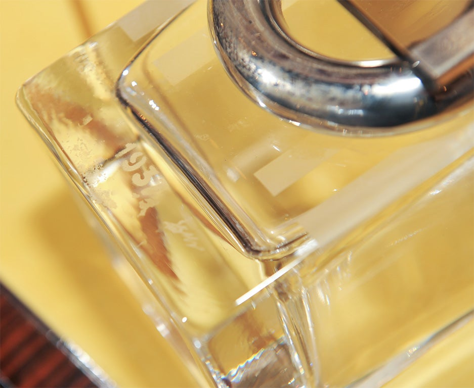 Glass and Chrome Streamlined Vase by Riecke 4