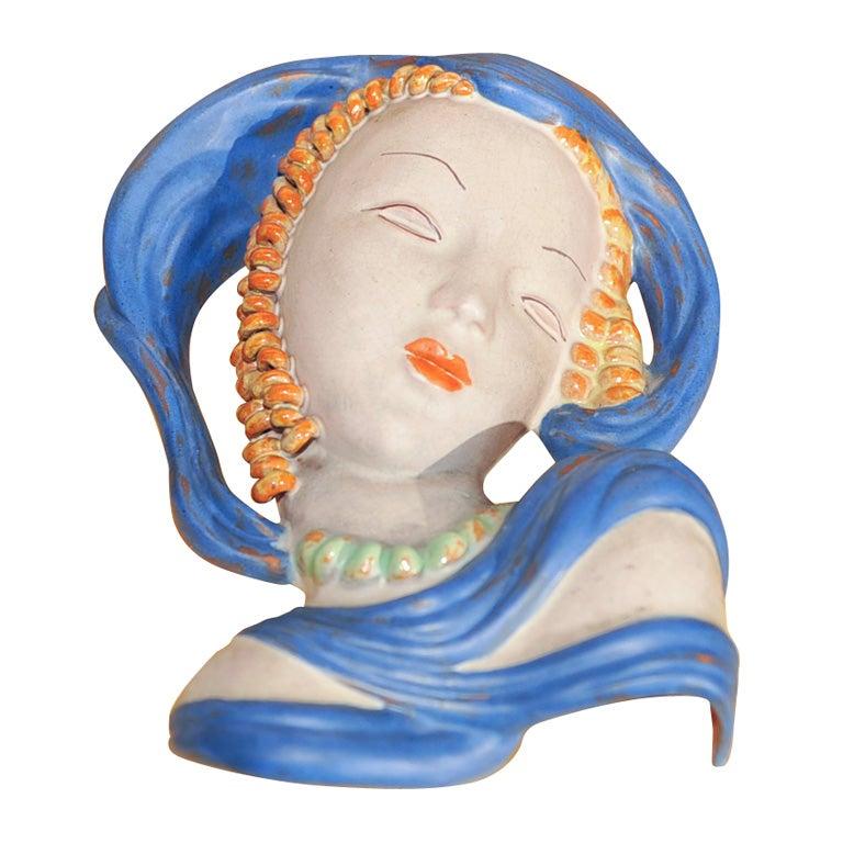 Art Deco Ceramic Mask
