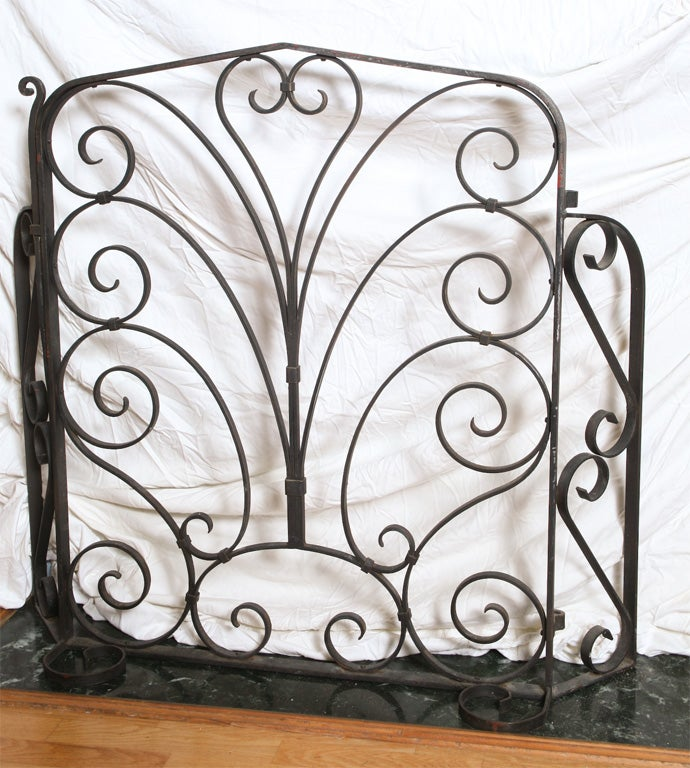 mizneresque wrought iron fireplace screen at 1stdibs