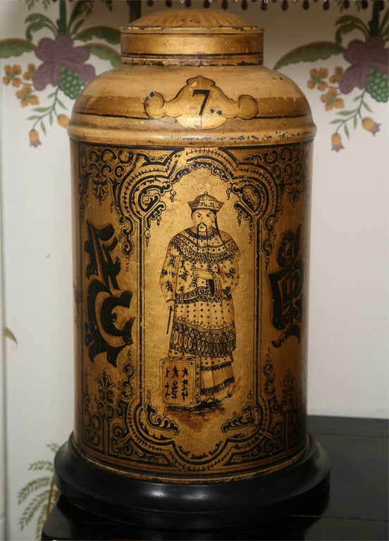 Pair of 19th Century English Toll Tea Caddy Lamps 3