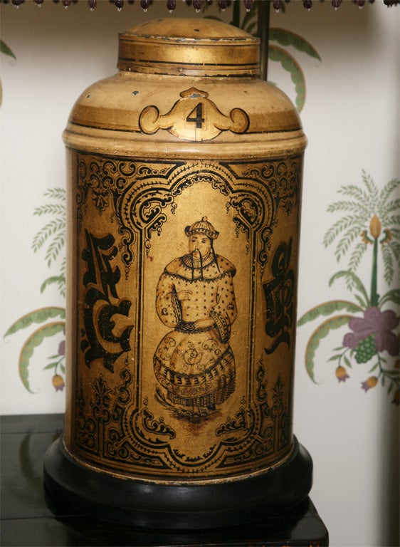Pair of 19th Century English Toll Tea Caddy Lamps 4