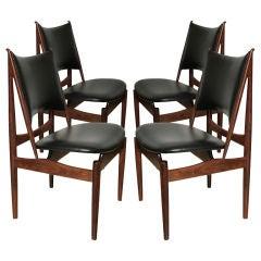 Set of 4 Finn Juhl Egyptian Chairs