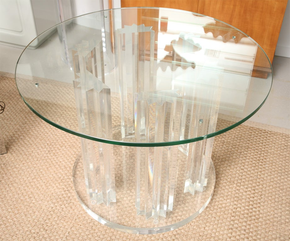 Exceptional Skyscraper Style Lucite Dining Table Base 2