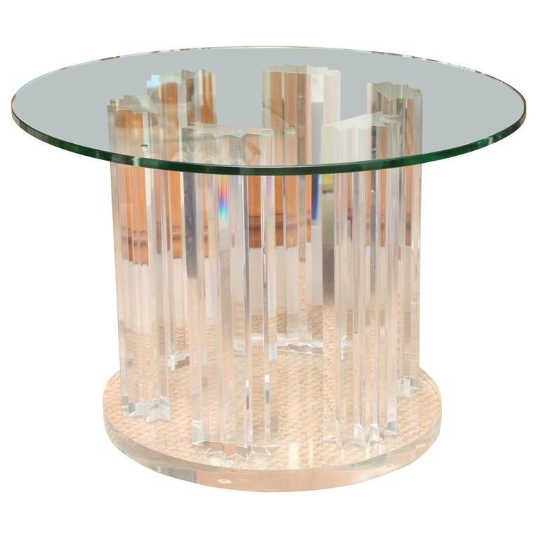 Skyscraper Style Lucite Dining Table Base at 1stdibs