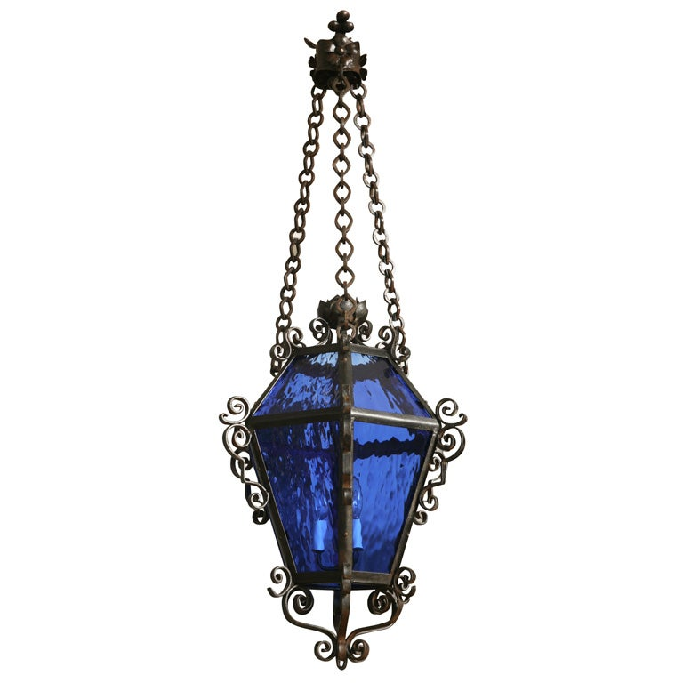 Spanish Wrought Iron Lantern at 1stdibs