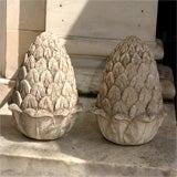 Carved Stone Artichoke Finials image 2