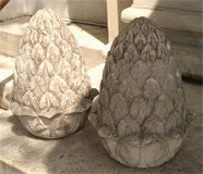 Carved Stone Artichoke Finials image 4