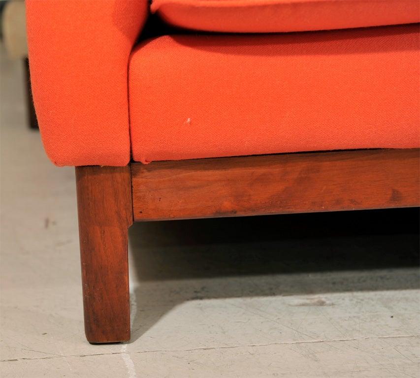 Reupholster Sleeper Sofa: Orange 1960's Dux Sofa, Reupholstered In Knoll Fabric At