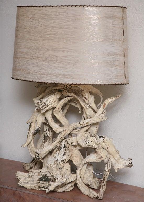 superb large scale vintage driftwood lamp at 1stdibs. Black Bedroom Furniture Sets. Home Design Ideas