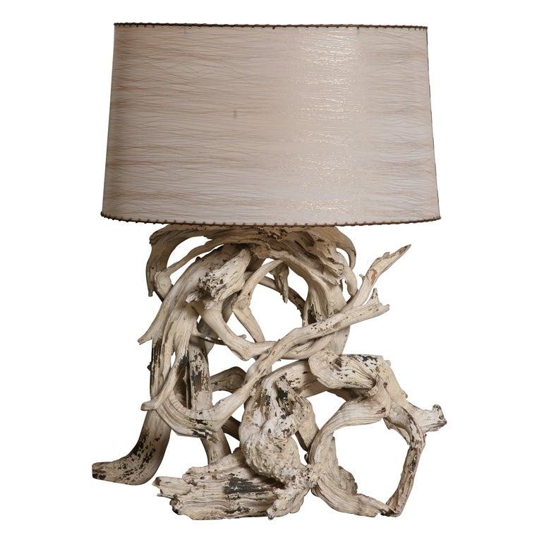 Superb Large Scale Vintage Driftwood Lamp At 1stdibs