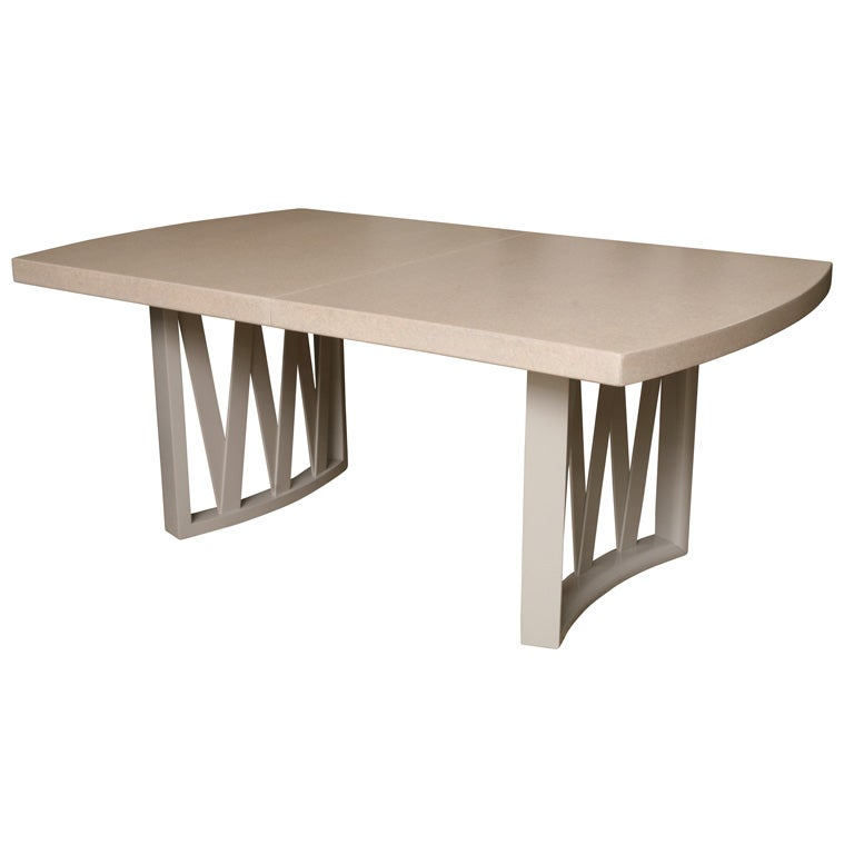 Cork Top Dining Table By Paul Frankl At 1stdibs