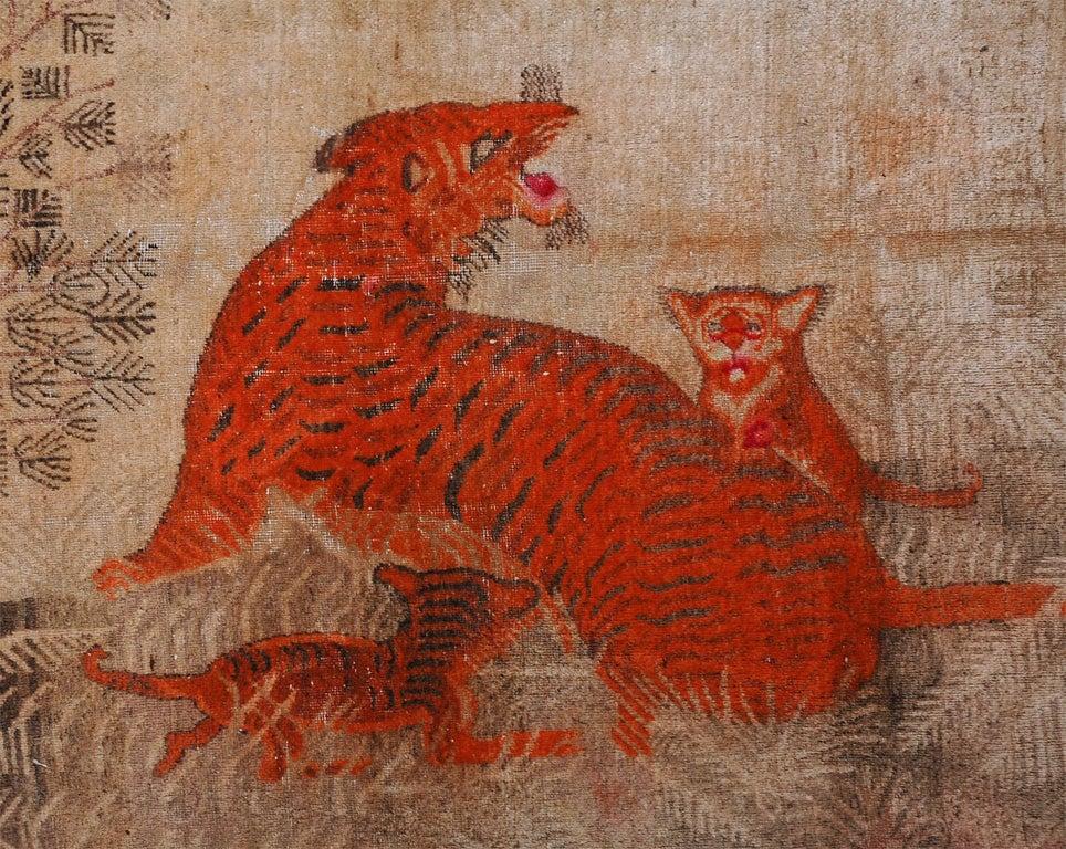 Xinjiang Uyghur Samarkand Chinese Tiger Rug At 1stdibs