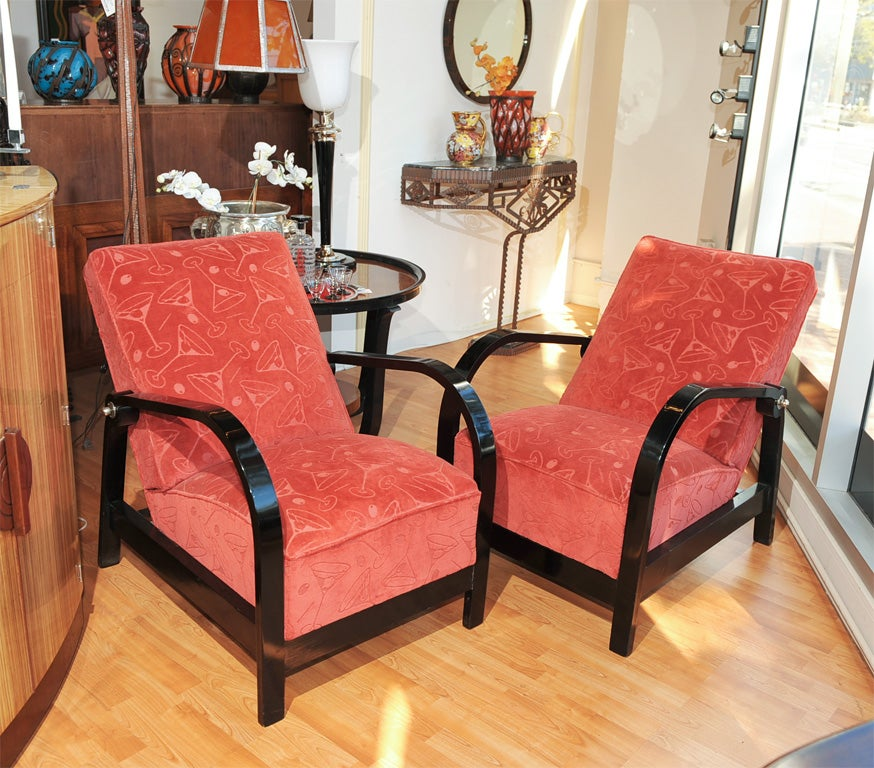 A Pair Of Period French Chairs With Missoni Fabric At 1stdibs: Vintage French Chairs Martini Fabric At 1stdibs
