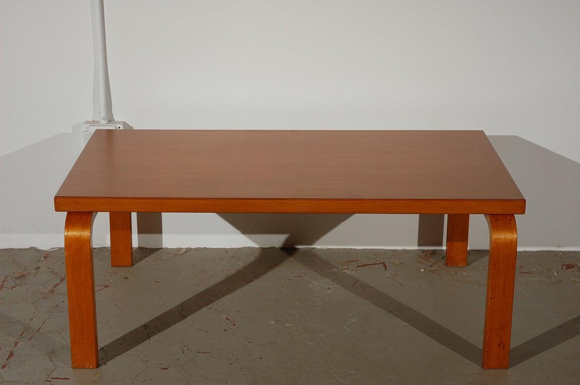 Original Alvar Aalto Bentwood Coffee Table At 1stdibs