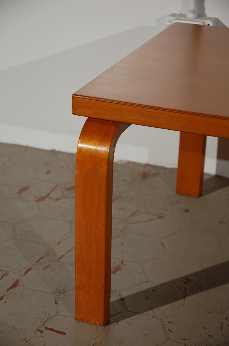 Original Alvar Aalto Bentwood Coffee Table At 1stdibs