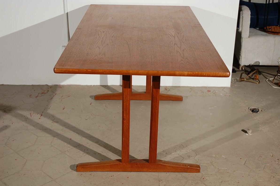 Original borge mogensen teak shaker style dining table at for Original dining room tables