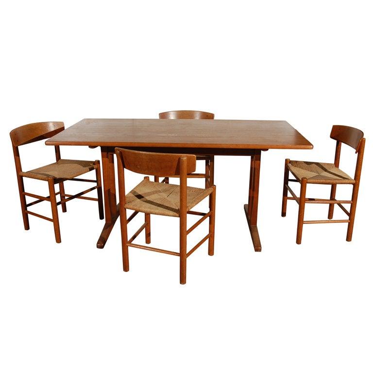 Original Borge Mogensen Teak Shaker Style Dining Table 1. Original Borge Mogensen Teak Shaker Style Dining Table at 1stdibs