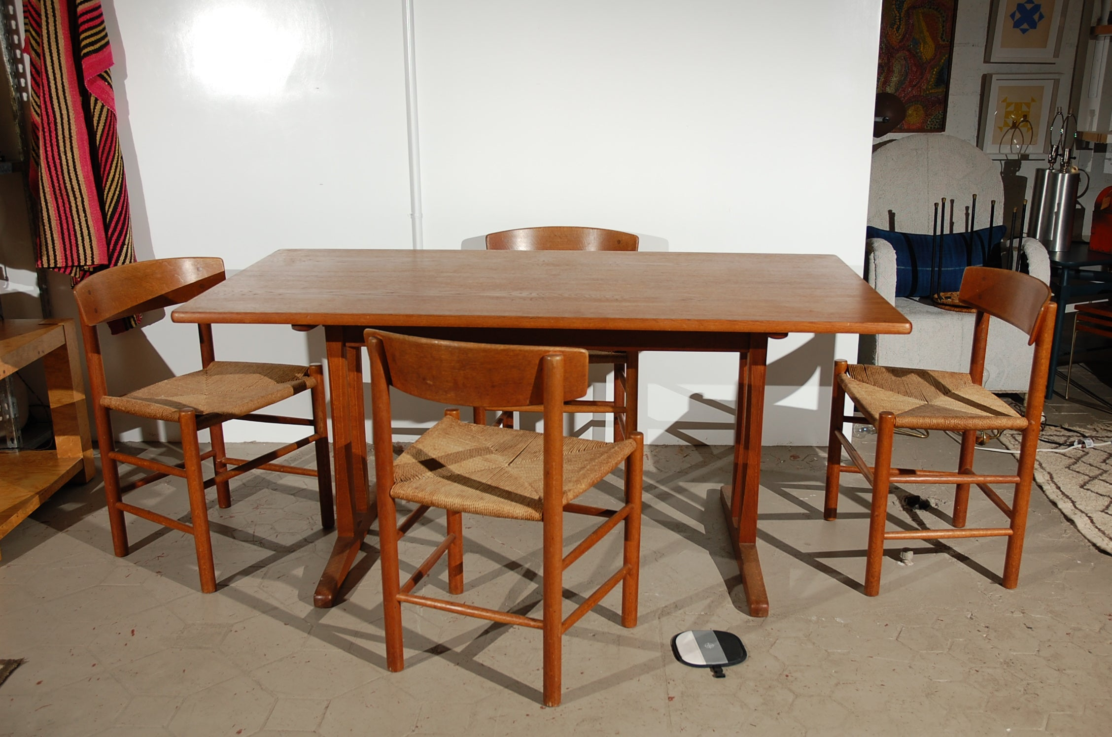 original borge mogensen teak shaker-style dining table at 1stdibs
