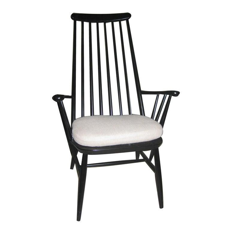 Tapiovaara spindle back arm chair at stdibs