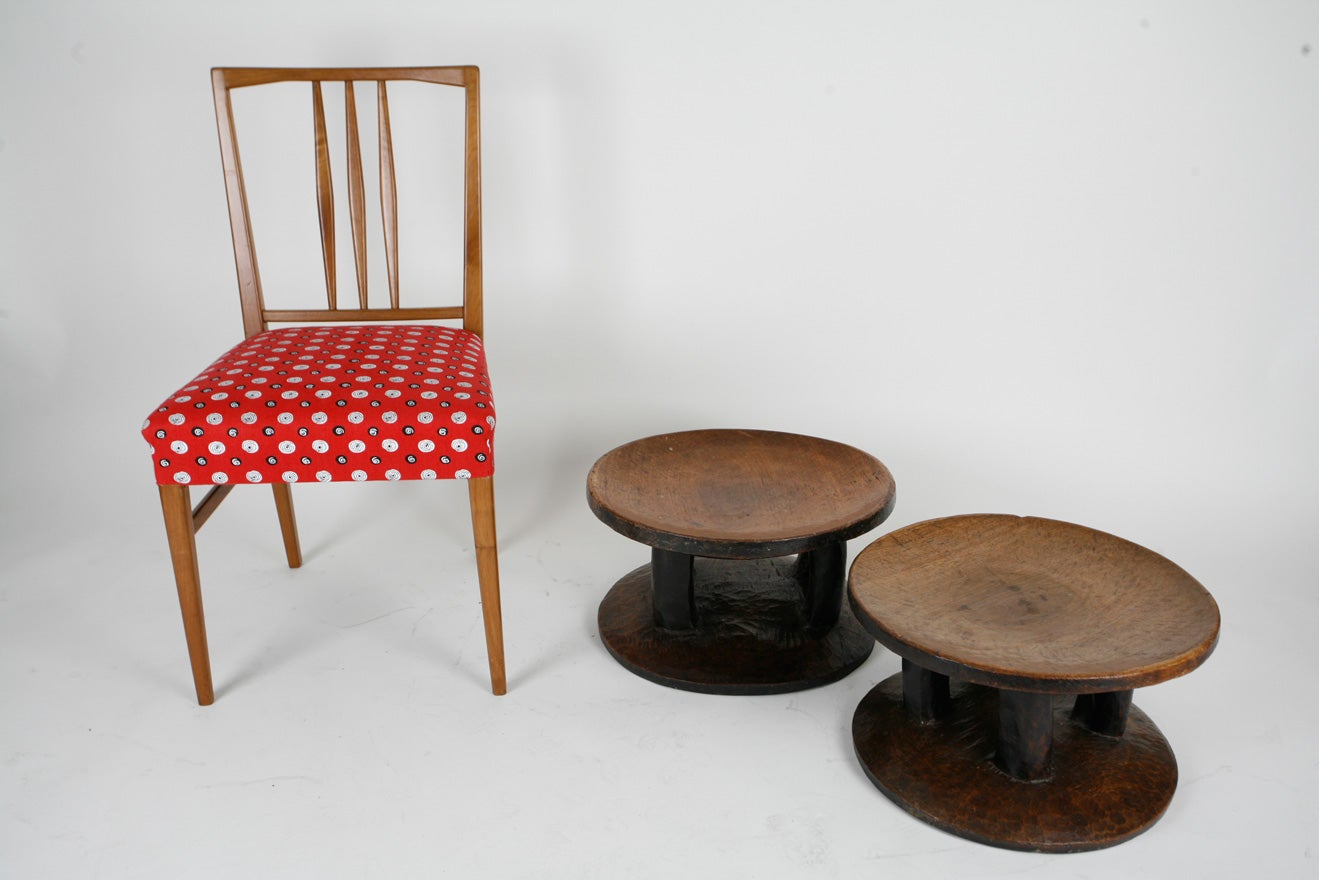 A pair of African stools