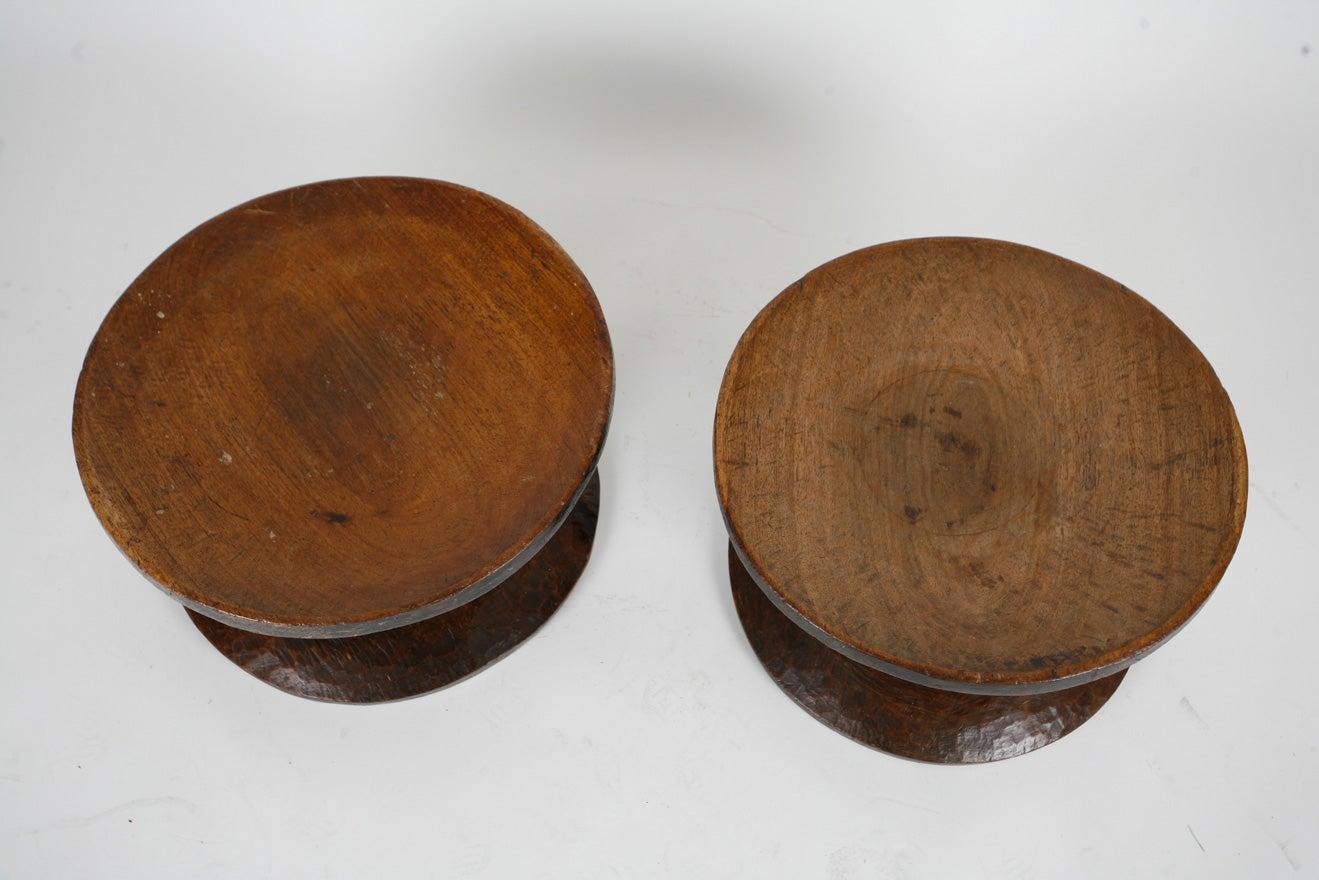 Ivorian Pair of African stools