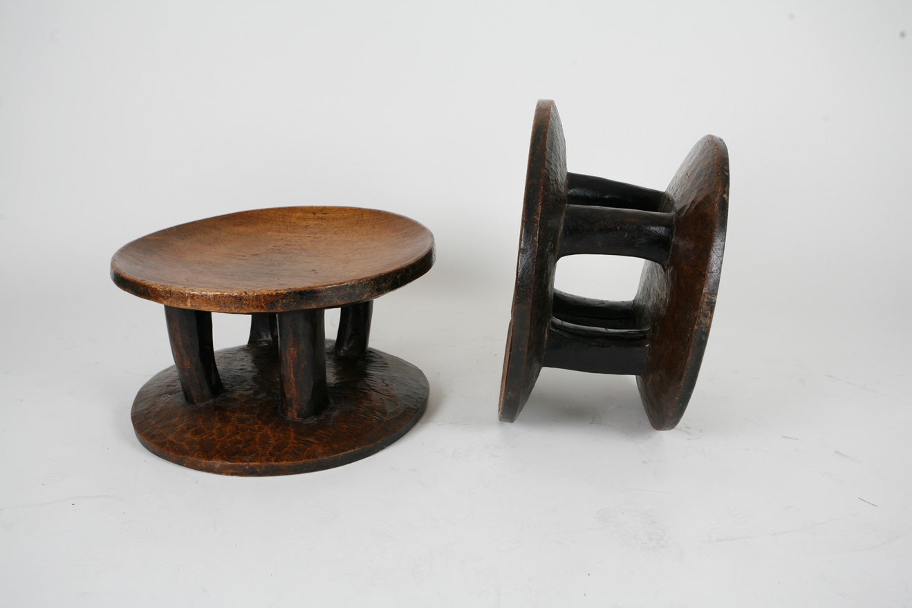 20th Century Pair of African stools