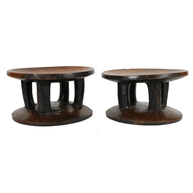 Pair of African stools