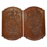 Pair of Louis XV Oak Panels