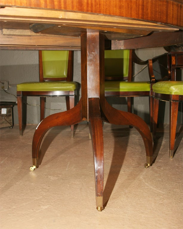 oval mahogany dining room table with leaves at 1stdibs