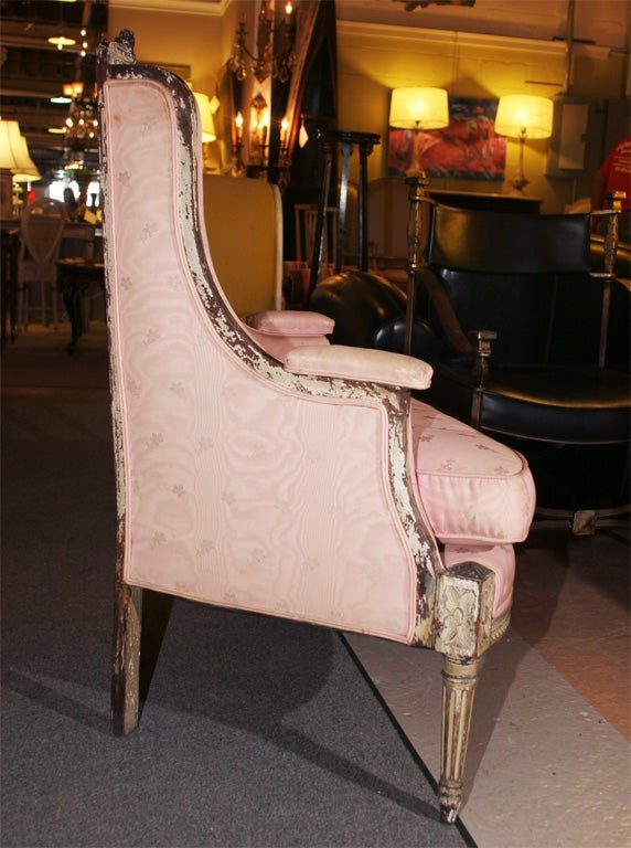 Painted Louis XVI  Style Corner Chair Attr. Jansen 6
