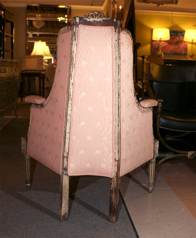 Painted Louis XVI  Style Corner Chair Attr. Jansen 7